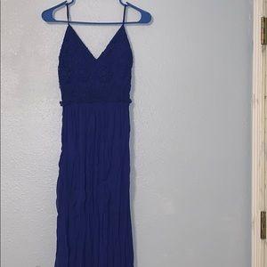 Lace Detail Maxi Dress